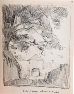 Ingang van kasteel Neercanne van de kant van Kanne