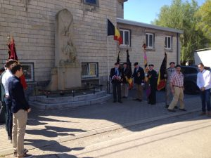 Oorlogsmonument aan de Sint Hubertuskerk