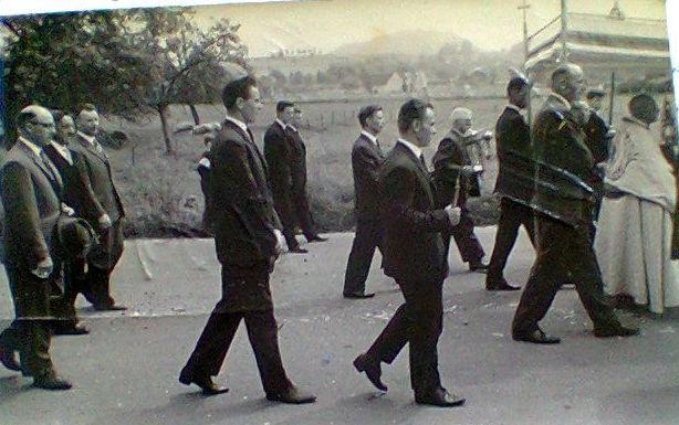 Sacramentsprocessie einde jaren 1950 of begin jaren 1960