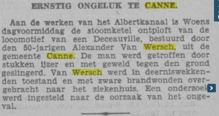 Wie was Alexander van Weersch uit Canne?