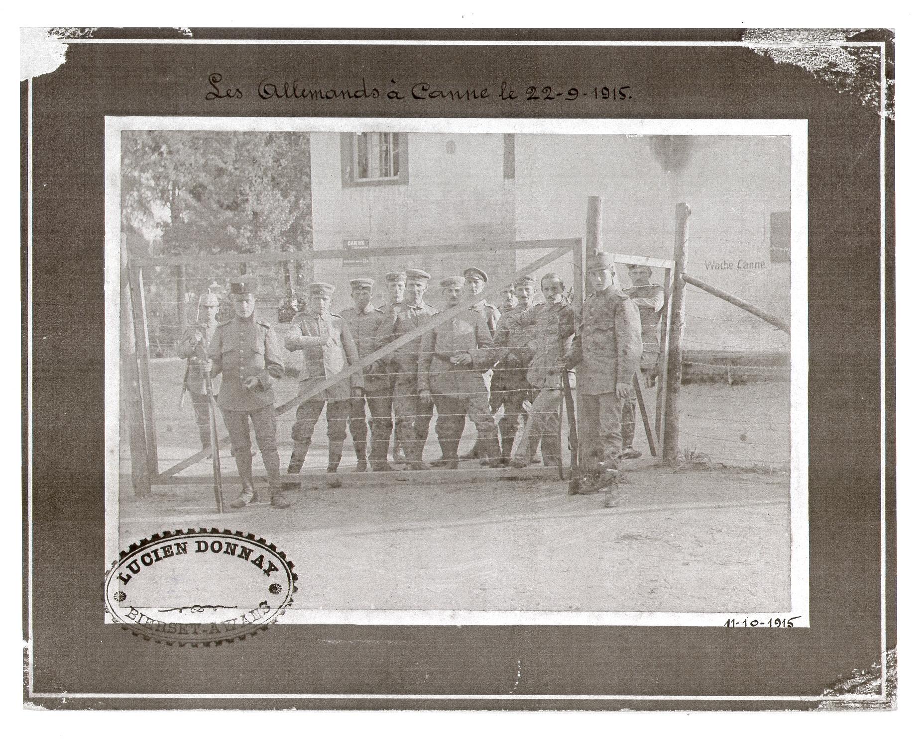 De grens in Kanne in 1914-1915