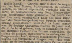 Een bijtende hond in het  Canne van 1907